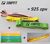 Фитнес резинки + резиновые петли. Фитнес набор резины JUMPFIT Pro