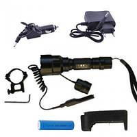Фонарик диодный Bailong BL-QC8 CREE - 18 000W, Q5 CREE /аккум./зарядное 220V/12V/под ружье