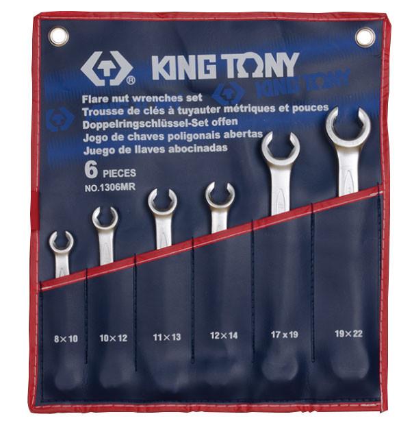 Набор гаечных ключей разрезных 6 шт. 8-22 мм