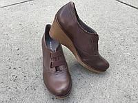 Туфлі жіночі шкіряні з Іспанії. Коричневого кольору.