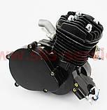 Двигатель велосипедный 2Т с ручным стартером, ЧЕРНЫЙ, фото 2