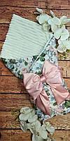 Конверт-одеяло с плюшем  для новорожденных, фото 1