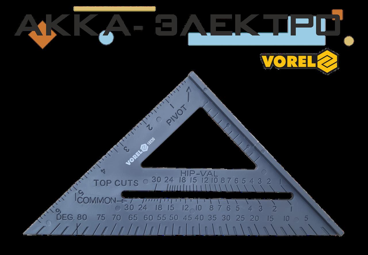 Косинець плотницький пластиковий 180мм Vorel(18530)