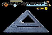 Угольник плотницкий пластиковый 180мм Vorel(18530)