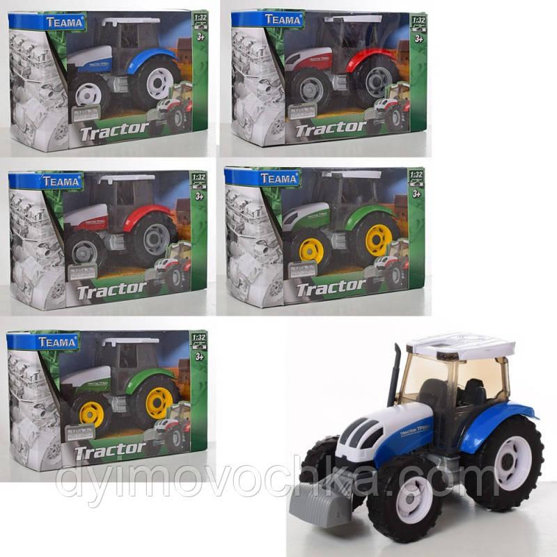 Игрушечный трактор 60072, 1:32, 14 см