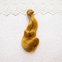 Волосы для кукол в трессах волна на концах, золотая горчица - 15 см
