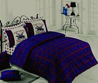Постельное белье Beverly Hills Polo Club ранфорс BHPC 012 Dark Blue евро