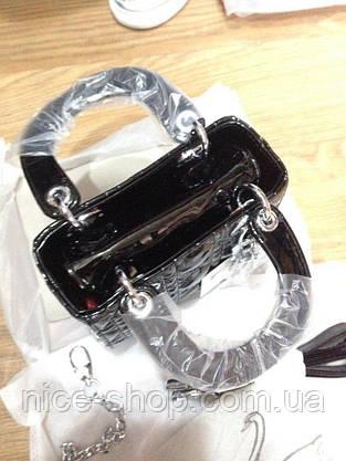 Сумочка mini черная лаковая, фото 2