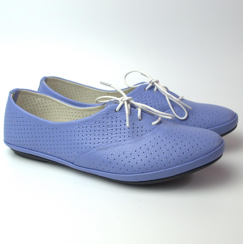 """Балетки фиолетовые летние кожаные женская обувь LaCoSe V Violet Perf Leather by Rosso Avangard """"Фиалка"""""""