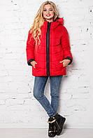 Модная свободная женская куртка деми 44-56 размера красная, фото 1