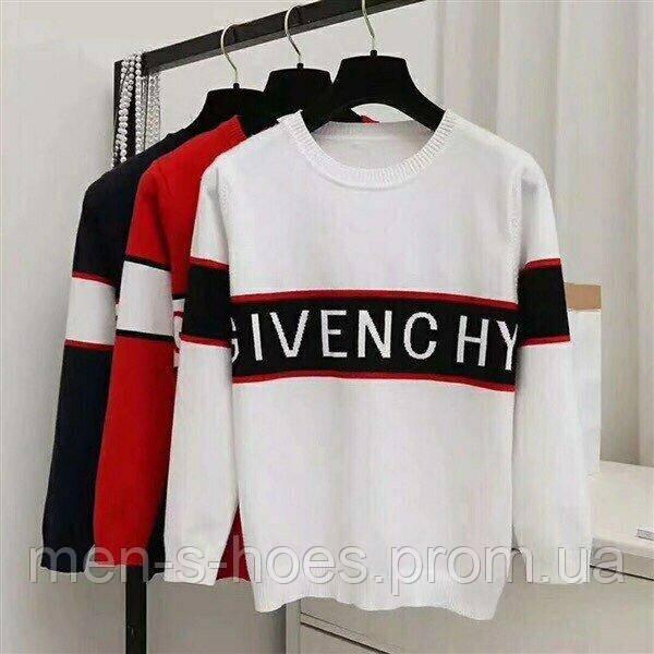 Стильный свитерок Givenchy удлиненный белый.