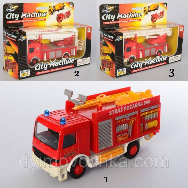Игрушечная пожарная машинка 830FW, металл, инерционный, от 12 см