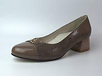 8790d27d6 Туфли лодочка на каблуке женская обувь Pyra V Gold Havy Beige by Rosso  Avangard кожаные темно