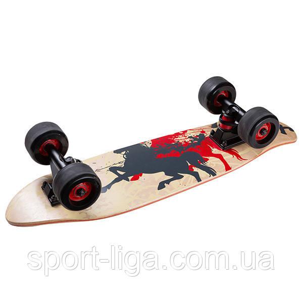 Скейт, канадский клен, чехол, дека 60х16 см, PU