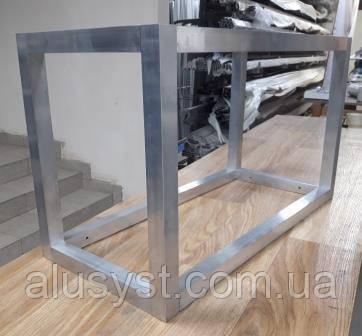 Алюминиевый каркас из алюминиевой трубы (крепление под 90 градусов открытое)