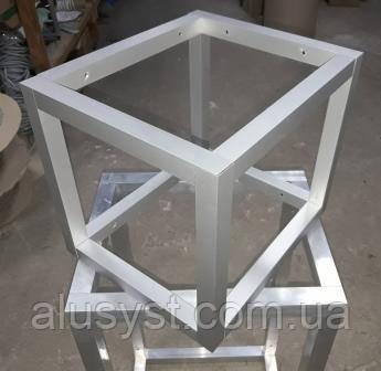 Конструктор для сборки каркаса  из алюминиевой трубы (крепление под 90 градусов закрытое)
