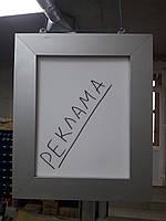 Алюминиевая рамка для рекламной панели из торгового профиля модели 2721, фото 1