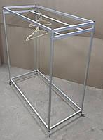 Стенд - вешалка под плечики / тремпель | Стойка передвижная для магазина или салона, фото 1