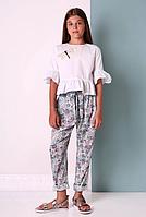 Летние цветные брюки для девочки МОНЕ р-ры 146,152,158,164