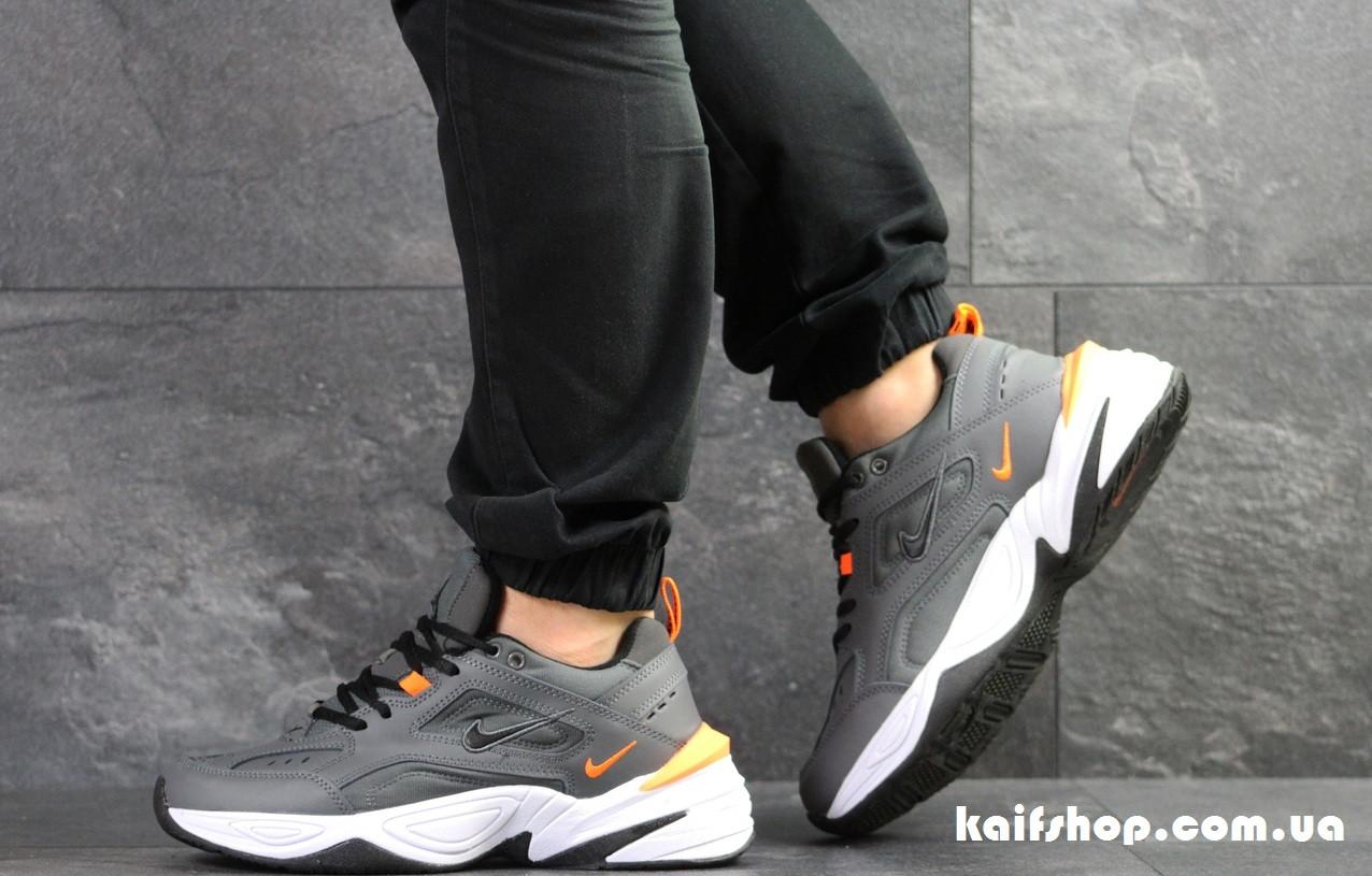 63799155a1c575 Мужские кроссовки Nike М2К Tekno серые с белым (Реплика) - KAIFSHOP в  Киевской области