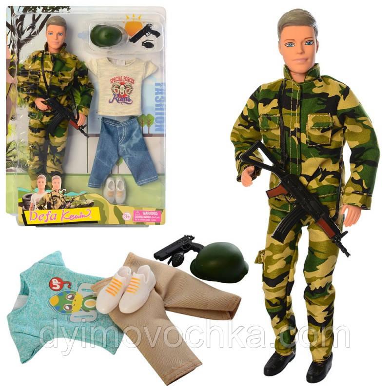 Кукла с нарядом DEFA 8412 Кен, 30 см, шарнирный, оружие