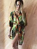 Пляжный халат с удлинённым рукавом в зелёных оттенках , фото 7