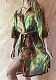 Пляжный халат с удлинённым рукавом в зелёных оттенках , фото 8