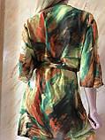 Пляжный халат с удлинённым рукавом в зелёных оттенках , фото 6