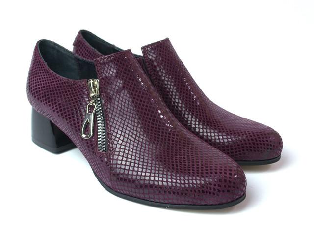 Туфли бордовые на каблуке женская обувь больших размеров Eterno Zipript Burgundy Lether BS by Rosso Avangard