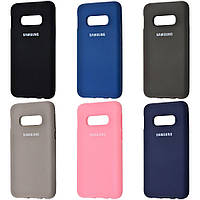Чехол Silicone Cover Full Protective Samsung Galaxy S10E (11 цветов)