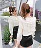 Ошатна бавовняна блуза 46-48, фото 6