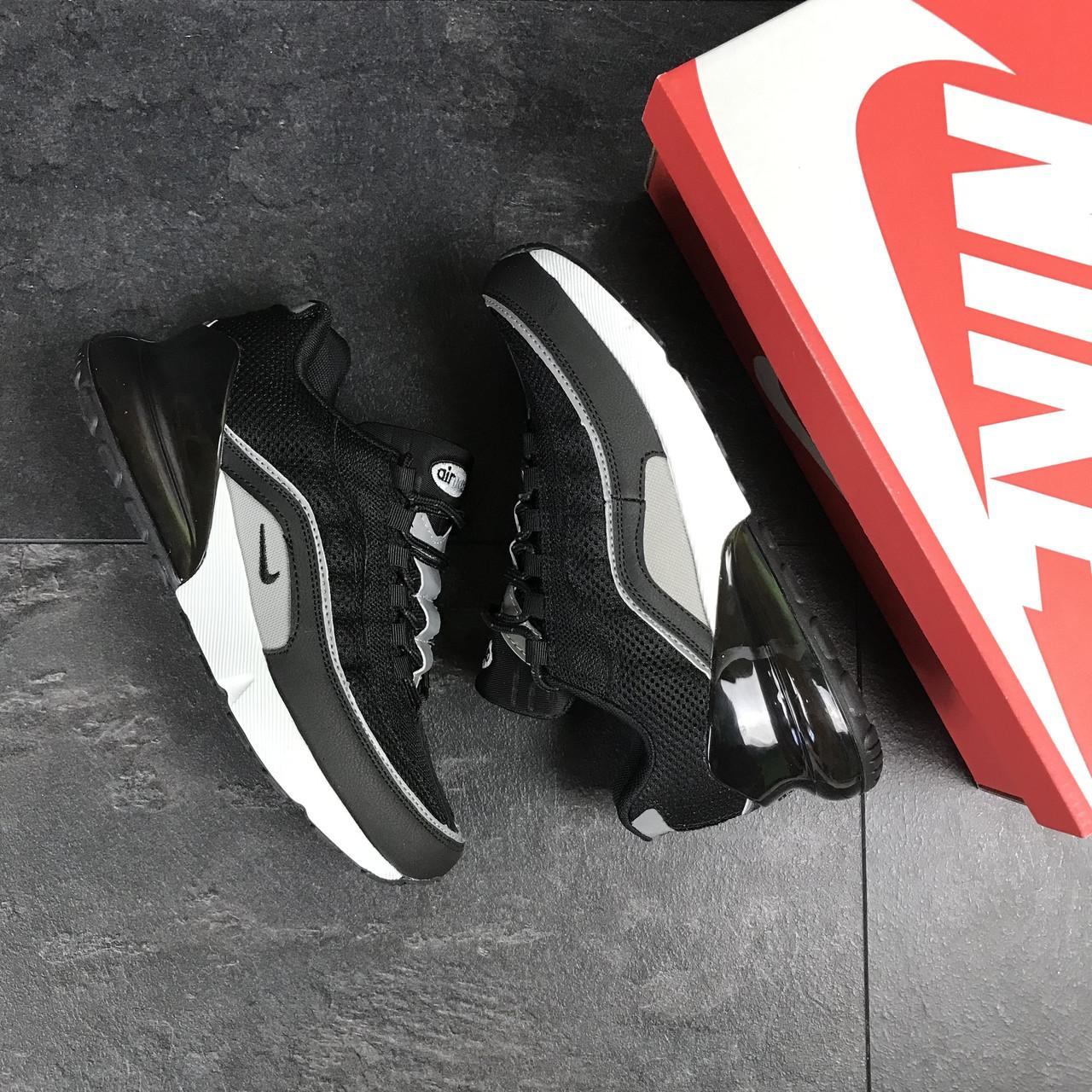 0759d1bc Nike Air Max 270 мужские кроссовки черные с белым (Реплика ААА+) ...