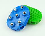 Рукавиця 3в1 масажна антицелюлітна з металевими кульками силіконова Roller Ball, фото 4