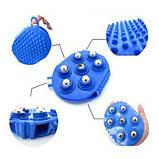 Рукавиця 3в1 масажна антицелюлітна з металевими кульками силіконова Roller Ball, фото 5