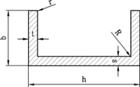Алюминиевый швеллер | П профиль, Анод 8х8х1 мм, фото 1