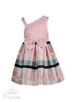 Праздничное детское платье с бретелью, фото 1