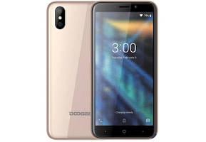 "Doogee X50 Gold экран 5"" батарея 2000mAh, 4 ядра, 1/8Гб, камера 5+0,3/5 бюджетный смартфон"
