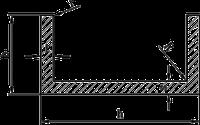 Алюминиевый швеллер | П профиль, Анод 90х30х3 мм, фото 1