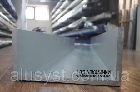 Алюминиевый швеллер   П профиль, Анод 100х50х5 мм
