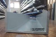 Алюминиевый швеллер   П профиль, Анод 100х50х5 мм, фото 1