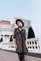 Платье женское модное букле, размеры L(44) цвет красный  купить в розницу в Одессе на 7км