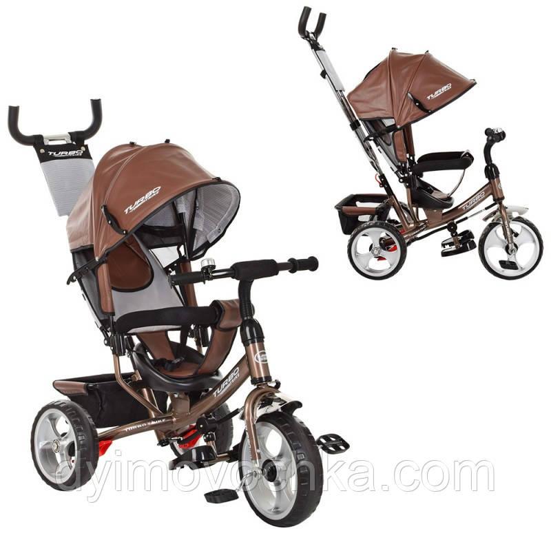 Детский велосипед M 3113L-13, трехколесный, колясочный, шоколад
