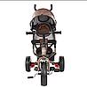 Детский велосипед M 3113L-13, трехколесный, колясочный, шоколад, фото 2
