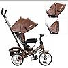 Детский велосипед M 3113L-13, трехколесный, колясочный, шоколад, фото 3