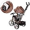 Детский велосипед M 3113L-13, трехколесный, колясочный, шоколад, фото 4