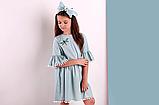 Ментоловое  платье для девочки  ТМ МОНЕ р-р 122,128,134,140, фото 2