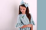 Ментоловое  платье для девочки  ТМ МОНЕ р-р 122,128,134,140, фото 3