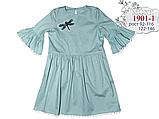 Ментоловое  платье для девочки  ТМ МОНЕ р-р 122,128,134,140, фото 4