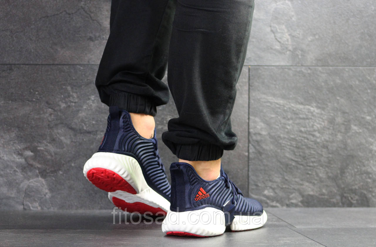 1d71cb465a5beb Чоловічі кросівки Adidas, темно сині з білим - BEST-CROSS в Хмельницком