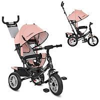 Детский велосипед M 3113AL-10, трехколесный, колясочный, розовый